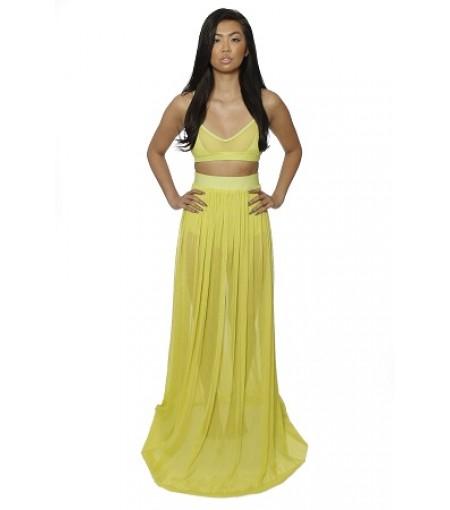 Neon Mesh Skirt