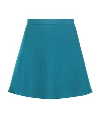 miniskirt wool blue skirt