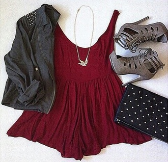 dress red dress shoes jacket bag