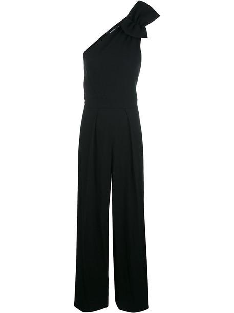 jumpsuit women spandex black wool
