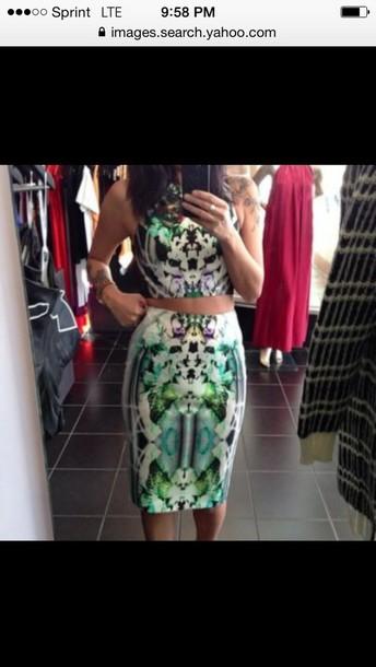 dress 2 piece skirt set