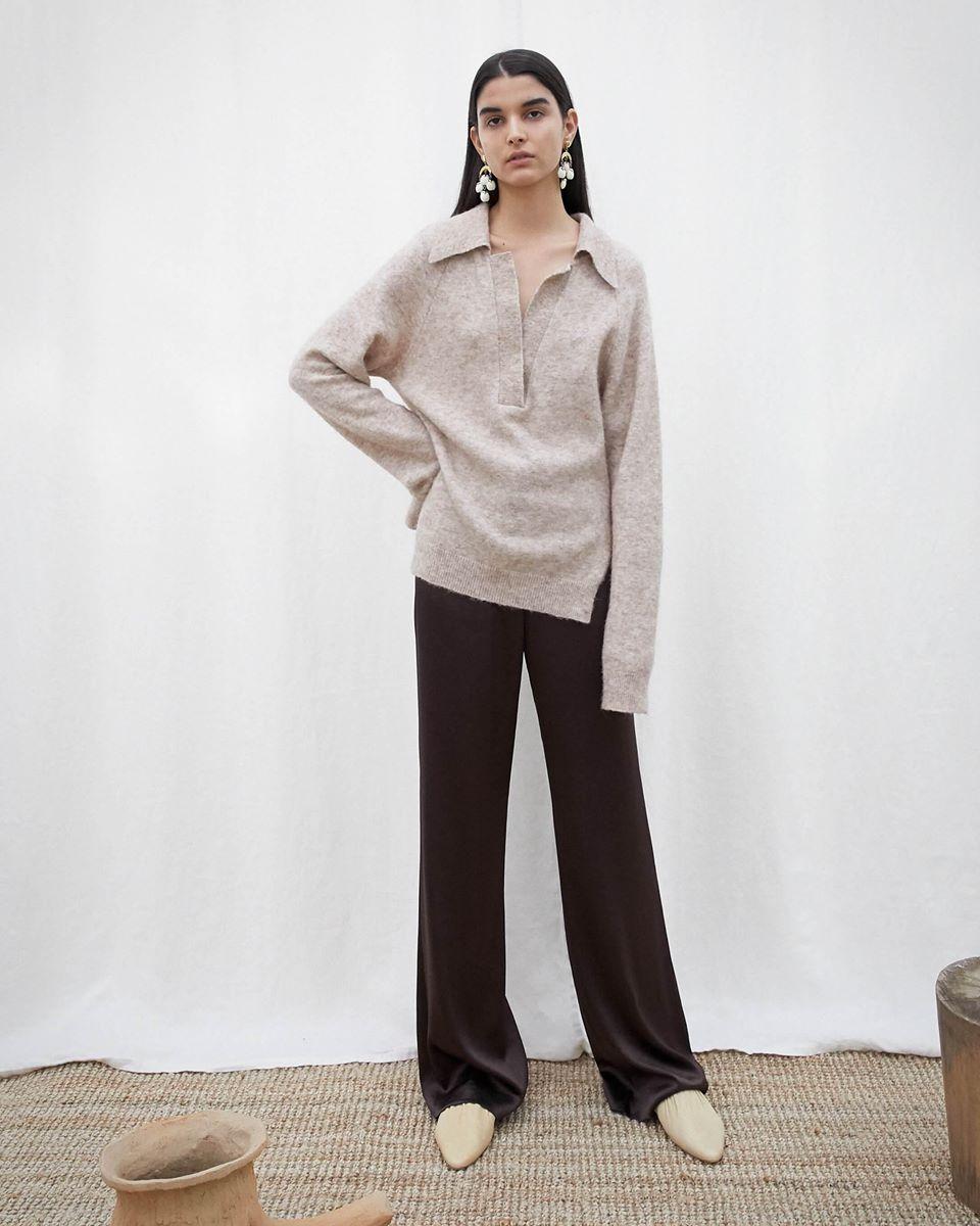 BAMBI - Polo neck knit sweater