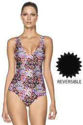 swimwear,agua bendita,black,one piece,reversible,multicolor,one piece swimsuit,bikiniluxe