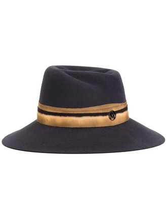women hat blue wool