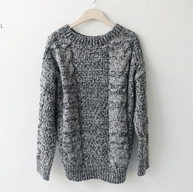 Grey round neck pullover from doublelw on storenvy