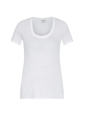 t-shirt shirt cotton t-shirt classic cotton white top