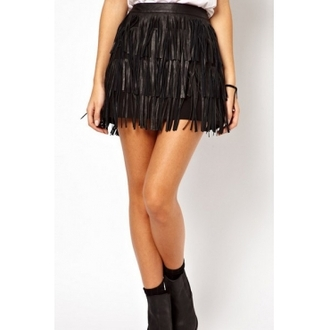 must have pinkdaggershoes new fancy fringes fringe skirt hot classic