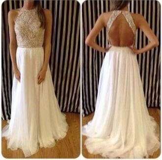 dress prom dress prom graduation dress graduation glitter sequin dress white gold