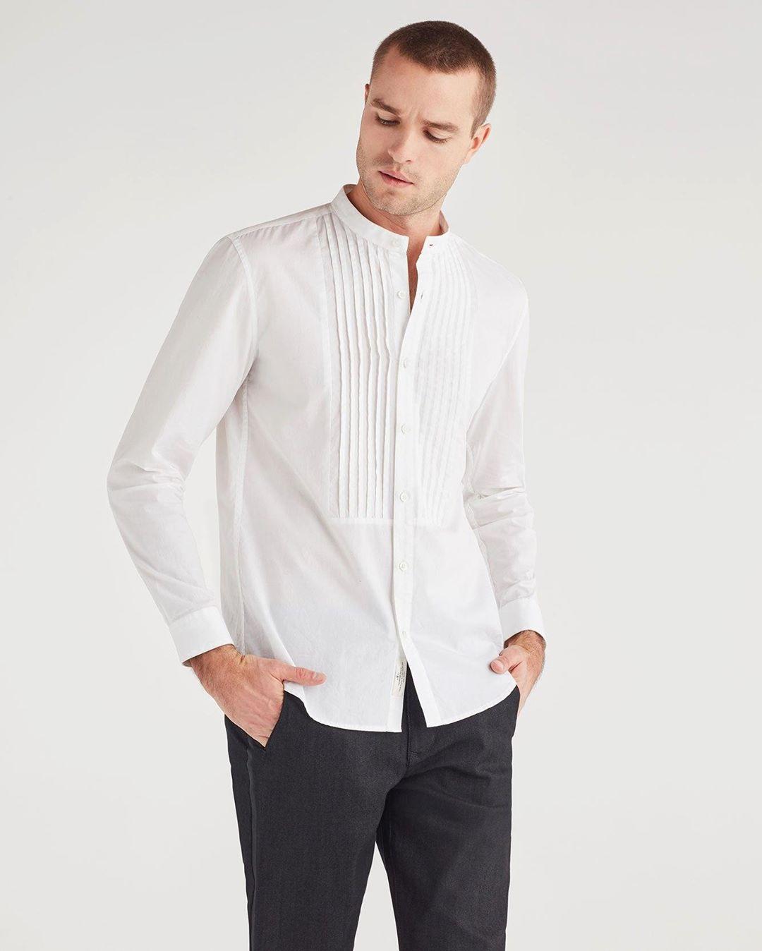 Men's Poplin Ripstop Tux Shirt in White