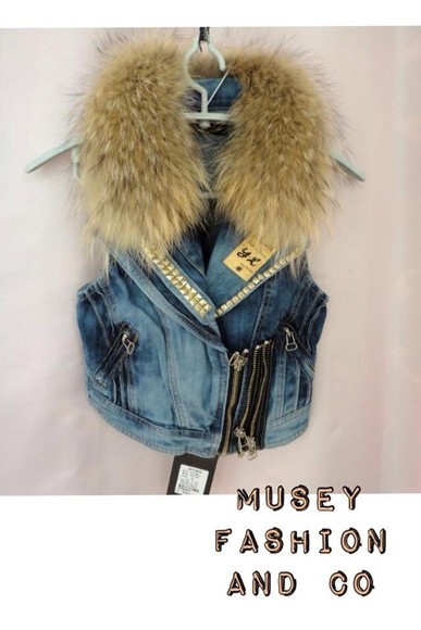 jacket denim vest jeans jeans and coat jeans and fur
