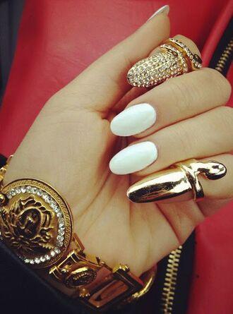 jewels nail ring cuff pave diamonds bling