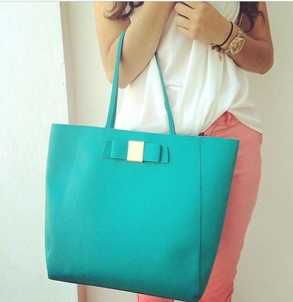 bag turquoise pastel