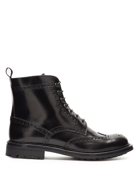 Church's leather ankle boots ankle boots lace leather black shoes