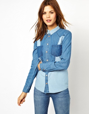 Warehouse | Camisa colour block de Warehouse en ASOS