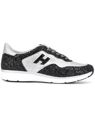 glitter women sneakers leather black shoes