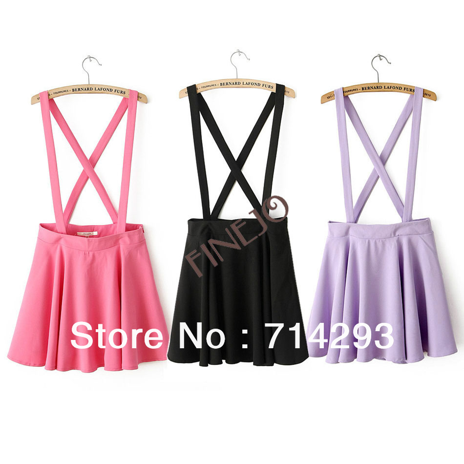 Korea Women's Fashion Candy Color Braces Short Suspender Skirt 3 Colors 2 Sizes 16803-in Skirts from Apparel & Accessories on Aliexpress.com | Alibaba Group