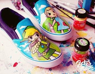 shoes legend of zelda colorful wind walker wind waker video game