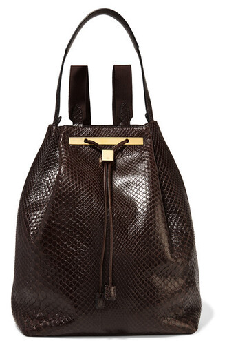 dark python backpack brown bag