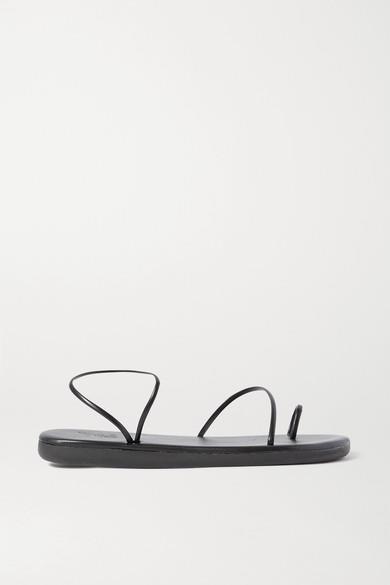 Ancient Greek Sandals - Kansiz Faux Leather Sandals - Black - Kansiz Faux Leather Sandals