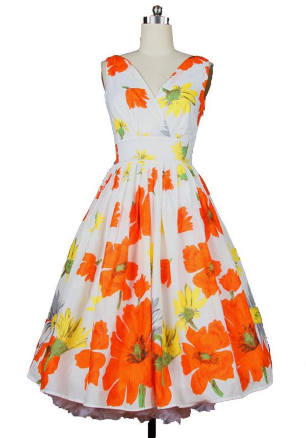 50s style 60s style floral dress vintage dress prom dress evening dress wedding dress 50s style 70s style 40's vintage