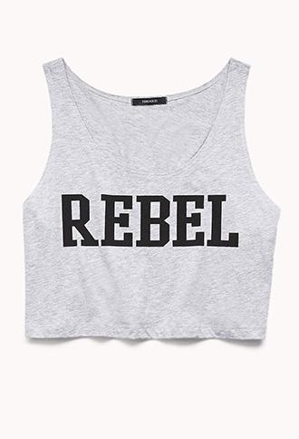 Rebel Girl Cropped Tank   FOREVER 21 - 2000074226