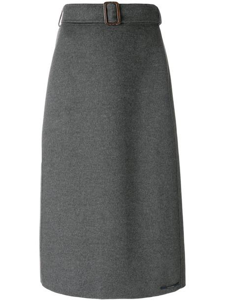'S Max Mara skirt midi skirt women midi wool grey