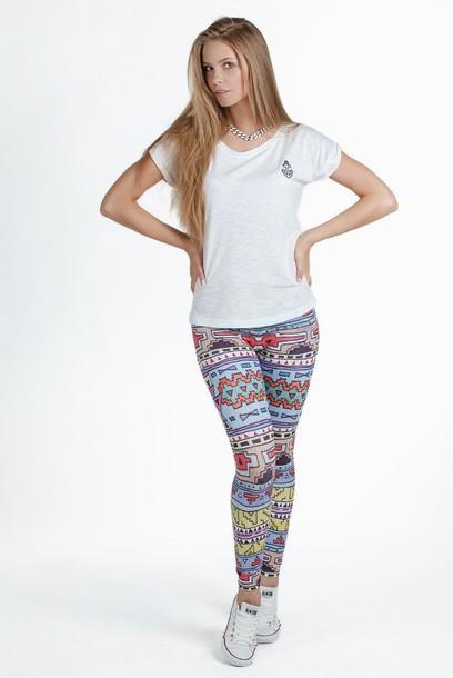 leggings printed leggings pattern patterned leggings ornament ornament leggings tribal pattern