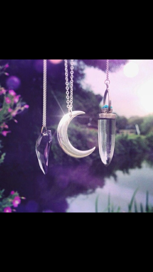jewels moon chain crystal quartz
