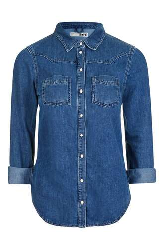 shirt denim denim shirt blue shirt topshop