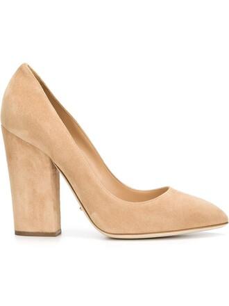heel chunky heel pumps nude shoes