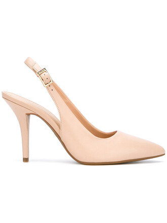 back women pumps leather nude shoes