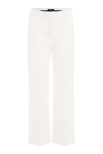 pants wide-leg pants cropped white