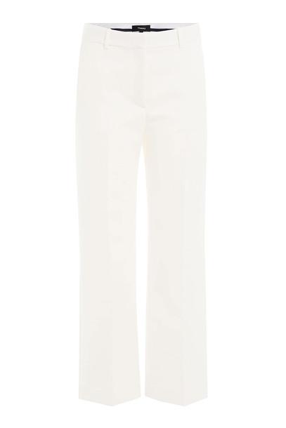 theory pants wide-leg pants cropped white