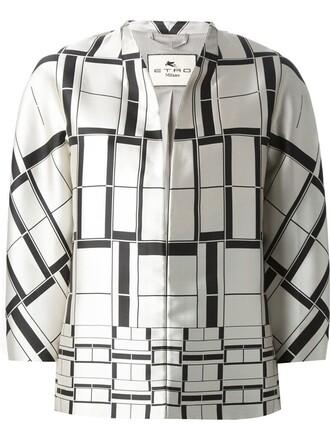 jacket women spandex print silk grey