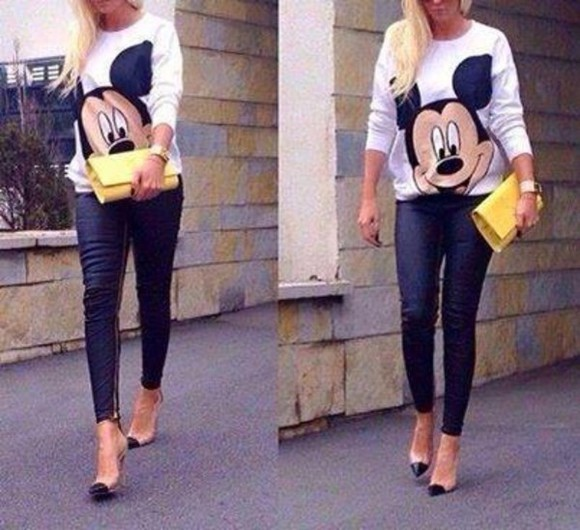 white mickey mouse mickey mouse sweater white sweater micky mouse micky mouse shirt micky print