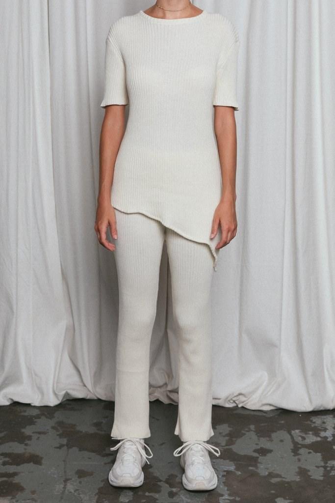 Pascale Knit Pant Cream
