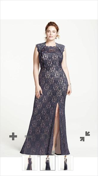 dress curvy plus size prom dress