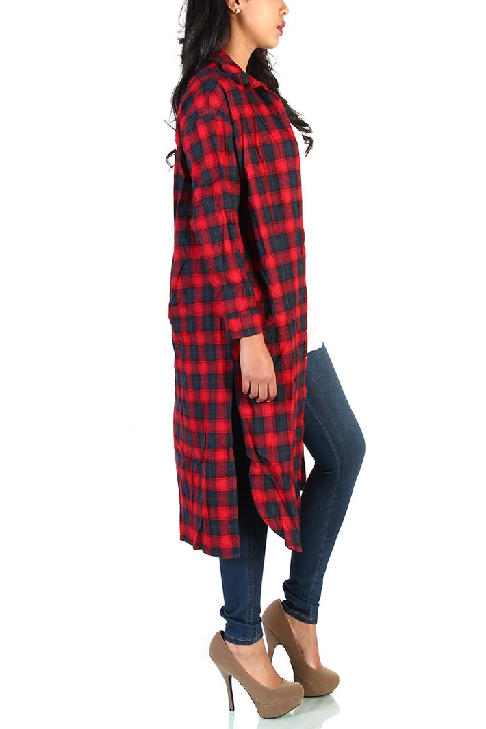 36 print oversized flannel shirts