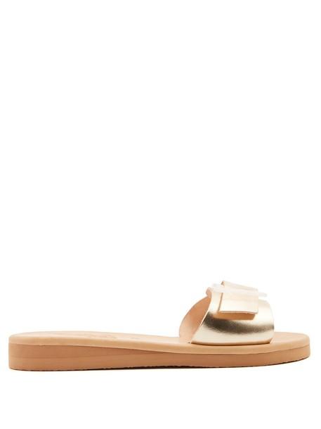 Ancient Greek Sandals sandals leather sandals leather gold shoes
