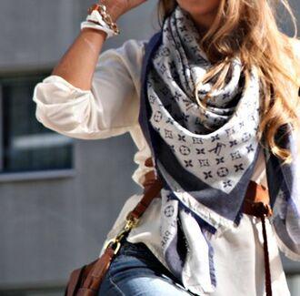 scarf blue roxy pattern love lovely fashion