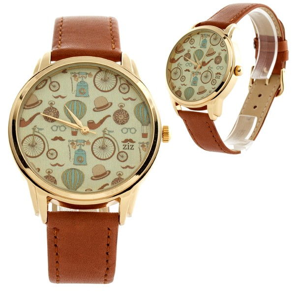jewels watch ziziztime watch brown vintage ziz watch