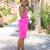 DIY Neon Pink Dress