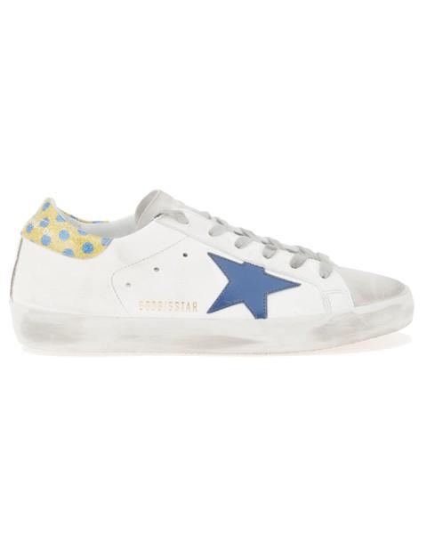 glitter gold white blue shoes