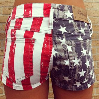 shorts flag stars stripes red white and blue merica