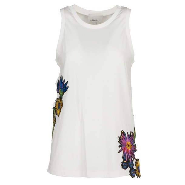 3.1 Phillip Lim top embroidered floral white