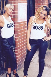 top,love + hip hop,princess nyah,london,white,style,boss,summer top,statement tees,cotton,tahiry,fashion