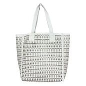 bag,beach bag,white,shoulder bag,beach,laser cut,tote bag,purse