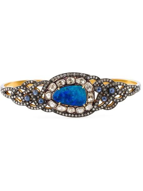 Gemco women opal gold grey metallic jewels