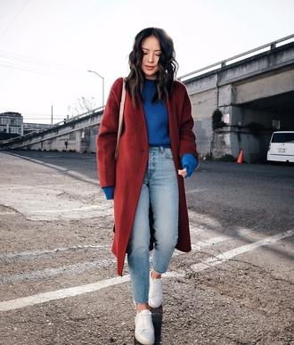 sweater tumblr blue sweater knit knitwear knitted sweater sneakers denim jeans blue jeans light blue jeans