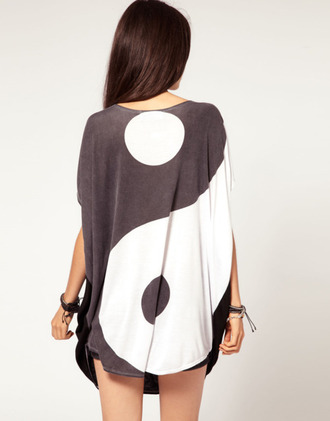 dress white black yin yang